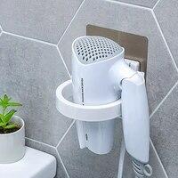 Support mural pour seche-cheveux  haute qualite  en ABS  etagere de salle de bain  rangement pour seche-cheveux  organisateur pour seche-cheveux 8 9cm