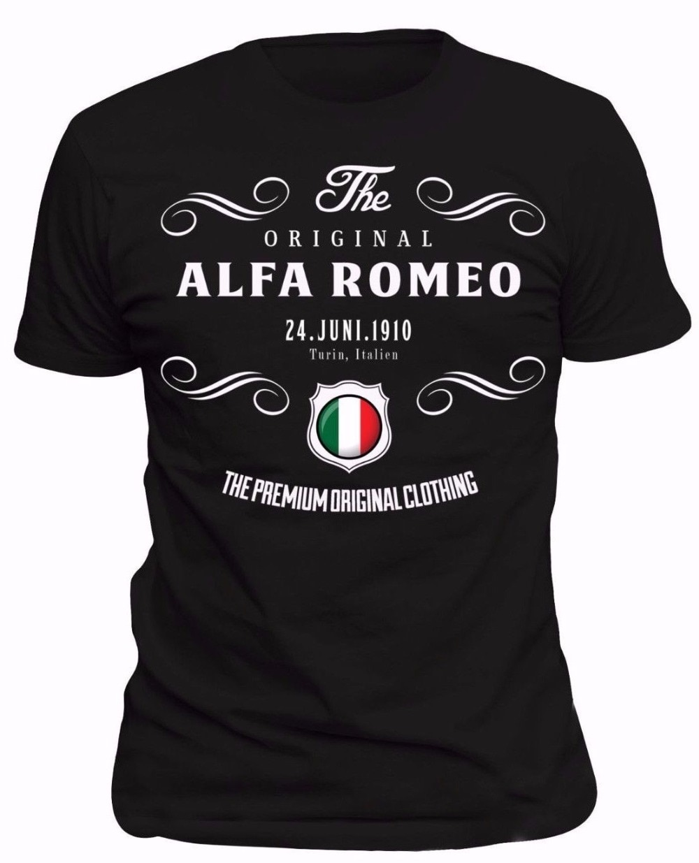 2019 marca de verano de alta calidad casual para hombres de verano de manga corta de algodón hombres camiseta fitness camiseta Alfa-Romeo Power camiseta