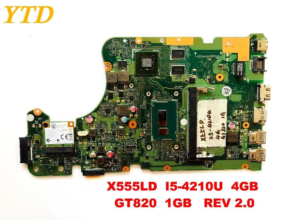 الأصلي ل ASUS X555LD اللوحة المحمول X555LD I5-4210U 4GB GT820 1GB REV 2.0 اختبار جيد شحن مجاني