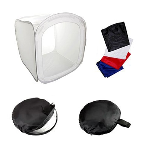 Top Deals 80CM caja de tienda luz foto estudio VIDEO soft BOX + 4 x Powerpoint color de fondo