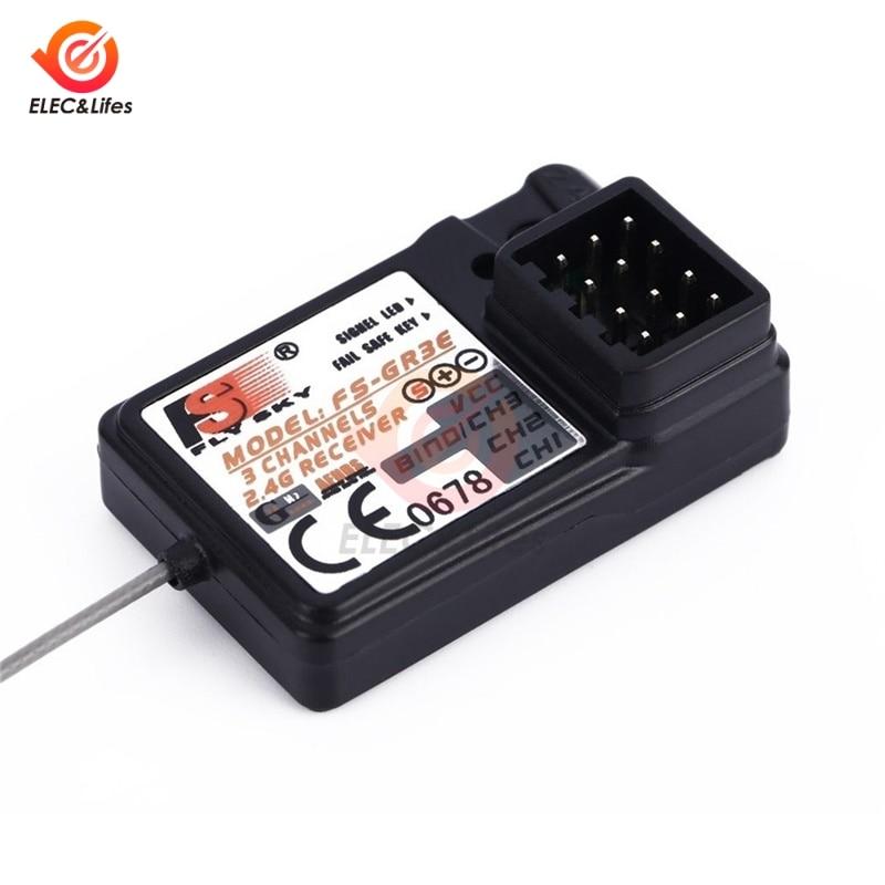 FS-GR3E 2,4G 3CH GFSK RC receptor para Flysky GT3 GT2 RC coche barco avión barco controlador transmisor