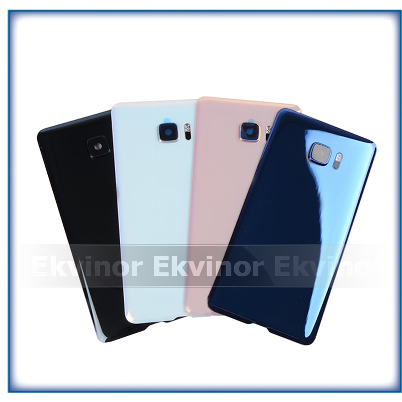 10pcs Original Material Glass Back Rear Housing Door For HTC U Ultra Back Battery Cover Case with Camera Lens Replacement Parts enlarge