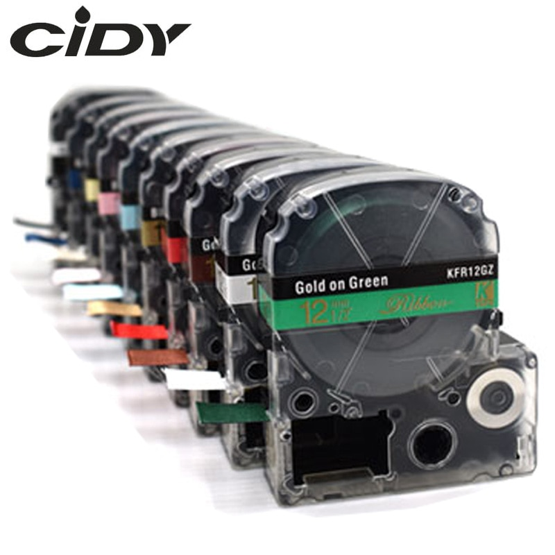 CIDY атласная лента 12 мм для Epson SFR12BK SFR12PK SFR12KZ SFR12NZ SFR12GZ SS12KW для подарков, оберточная LW-300 LW-400
