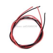 Nowy 16 wskaźnik AWG drut elastyczne silikonowe skręcone kable miedziane dla RC czarny czerwony S08 sprzedaż hurtowa i DropShip