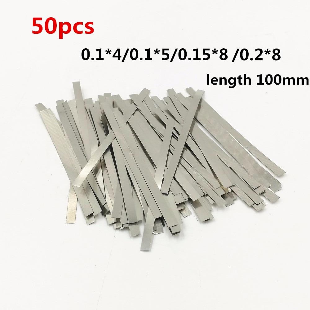 50tk nikeldatud terasriba nikkelplaadist rihmariba lehed 18650 aku punktkeevitusmasina keevitaja / punktkeevitaja jaoks