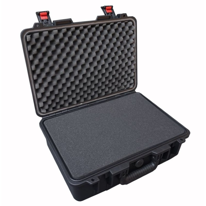 460x345x175mm caixa de ferramentas de plástico caixa de instrumento de umidade-prova à prova de choque à prova d água caso o equipamento de segurança com pré-corte de espuma