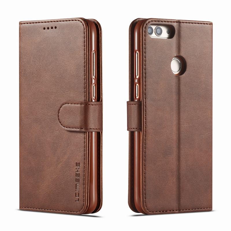 Funda tipo billetera para Huawei P, funda inteligente de cuero con tapa de lujo para Huawei Honor 9 Lite, funda de teléfono para Huawei P Smart 2018