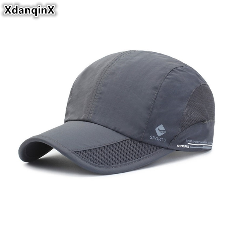 XdanqinX 2019 Spring Summer New Baseball Caps For Men And Women Light Breathable Mesh Cap Adjustable Size Couples Snapback