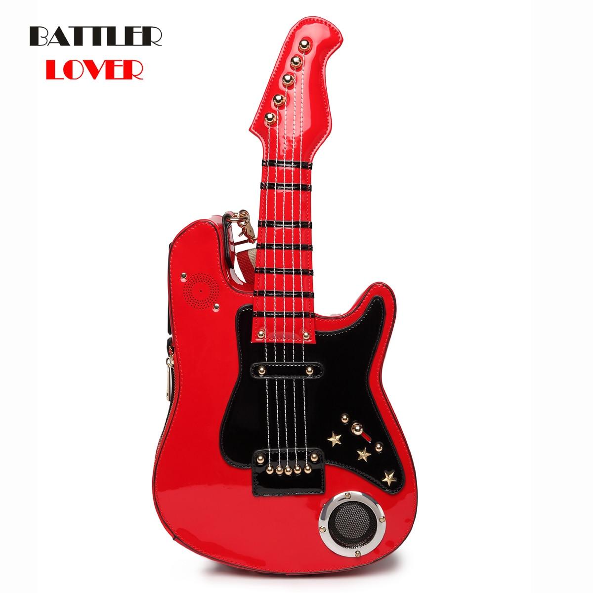 Bolsos de guitarra para mujer 2019, bolsos para mujer, bolso de mano 5AA con batería USB SD, bandolera de hombro para chicas, bolsos de lujo para mujer, bolso de diseñador