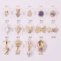 new 5pcslot 3d flash zircon nail art decoration luxury zircon bowtassel nails accessories top level crystal manicure charms