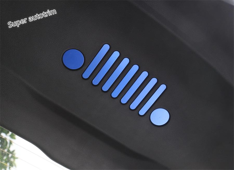 Lapetus Metal cola de la puerta trasera dentro emblema adhesivo accesorios de la cubierta Interior Trim Jeep Compass 2017, 2018, 2019, 2020