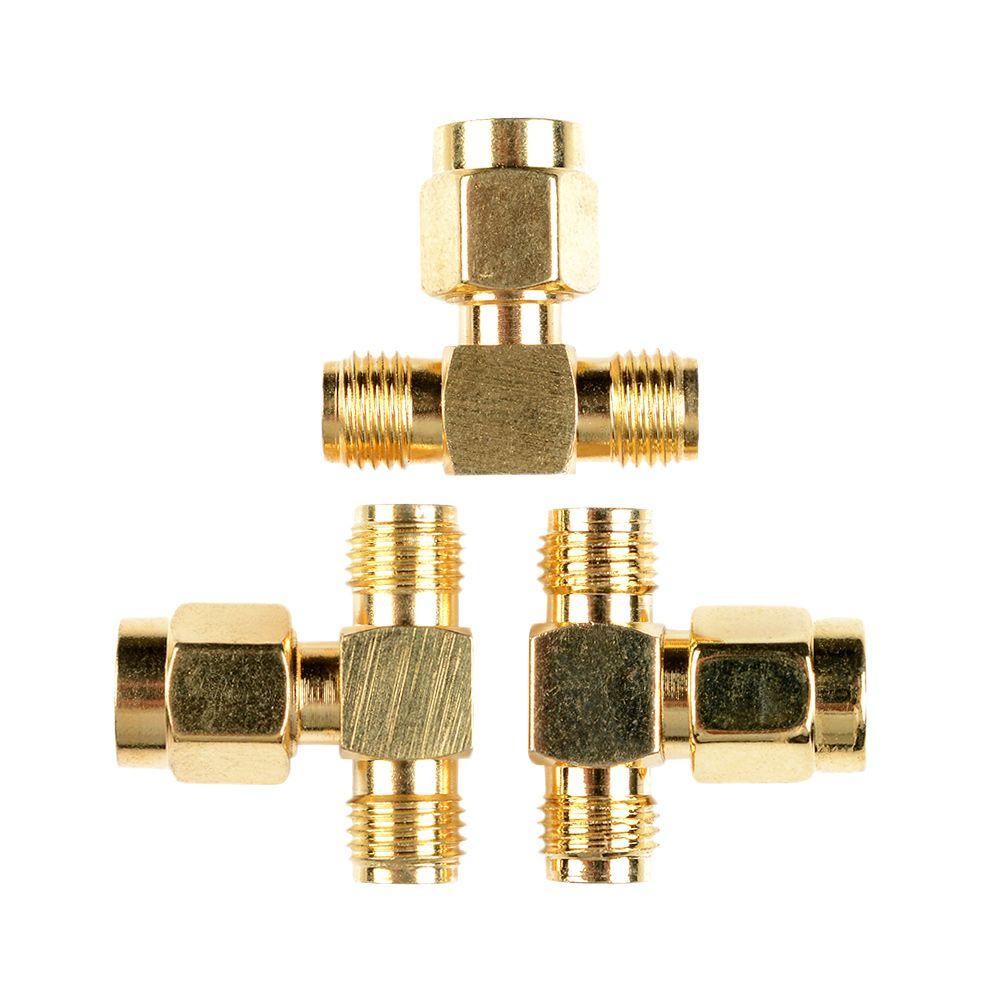 SMA macho a dos SMA hembra Triple T conector rf adaptador de 3 vías divisor LW SZUS