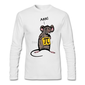 Mouse Japanese T-shirt Mens Full Sleeve Asian Size Clothes Designs Pirate (pi-rat) for Men 100% Cotton Long Sleeve O Neck Argyle