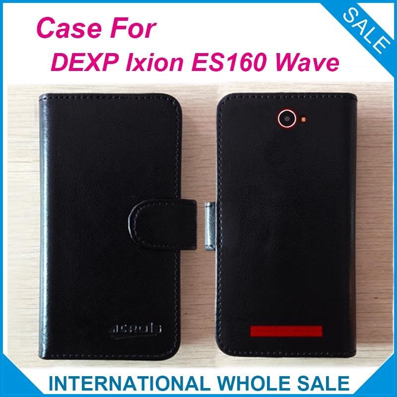 ¡Caliente! DEXP Ixion ES160 carcasa de Onda 6 colores de cuero de alta calidad exclusiva funda abatible DEXP Ixion ES160 funda de teléfono de seguimiento