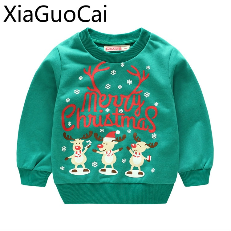 Kids Hoodies Christmas Sweater Boys and Girls Sweater Spring and Autumn Baby Jacket Children's Pullo