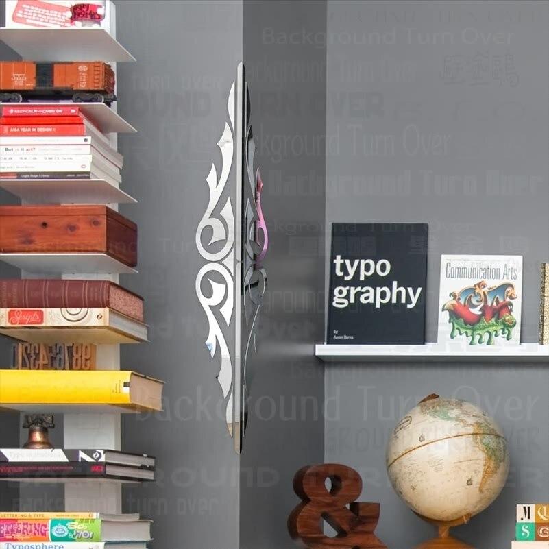Diseño de ala doble aerodinámico protectores de esquina decorativos pegatinas de pared de espejo 3d protecciones de borde de esquina Mural de sala de estar C029