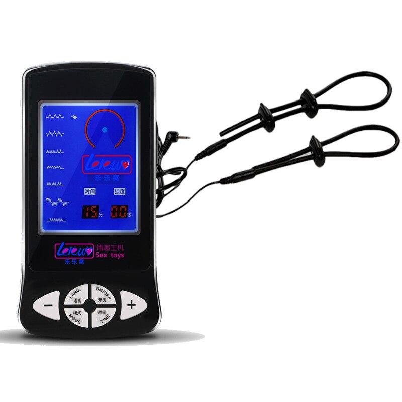 Электрический шок 2 шт. регулируемые Кольца для пениса секс игрушки электро