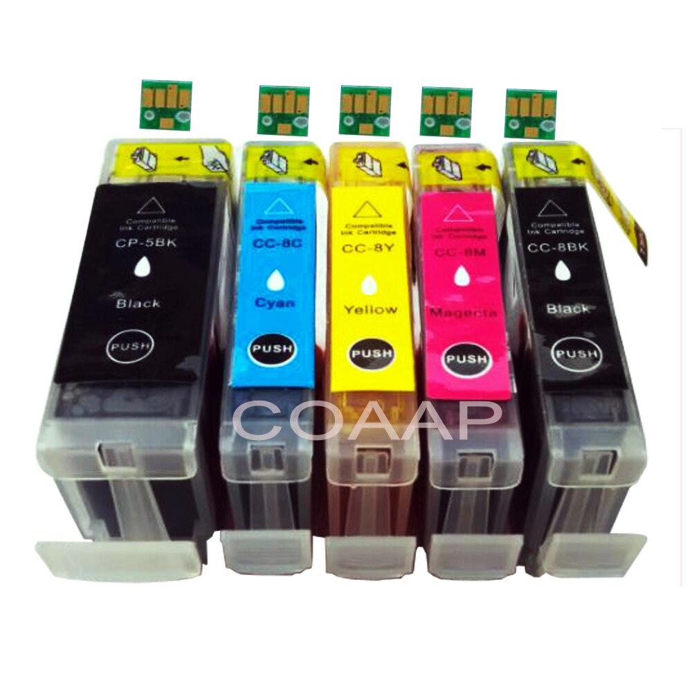 1 satz kompatibel tintenpatrone für canon pgi 5 cli 8 für pixma ip4200 ip4300 ip4500 mp530 mp600 mp610 mp800