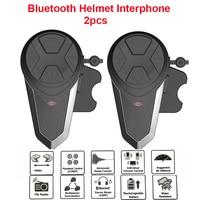 2 Pcs BT-S3 1000M Helmet Intercom Headset Motorcycle Bluetooth Interphone Handsfree FM Radio Waterproof Intercomunicador