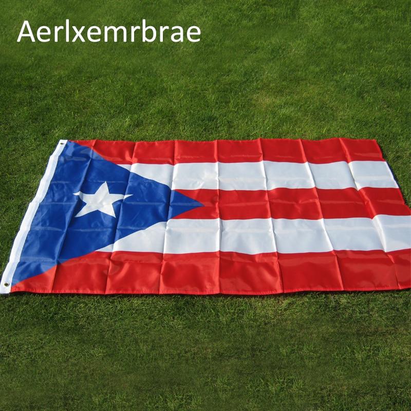 Bandera de Puerto Rico colgante de la bandera nacional, Bandera de poliéster...