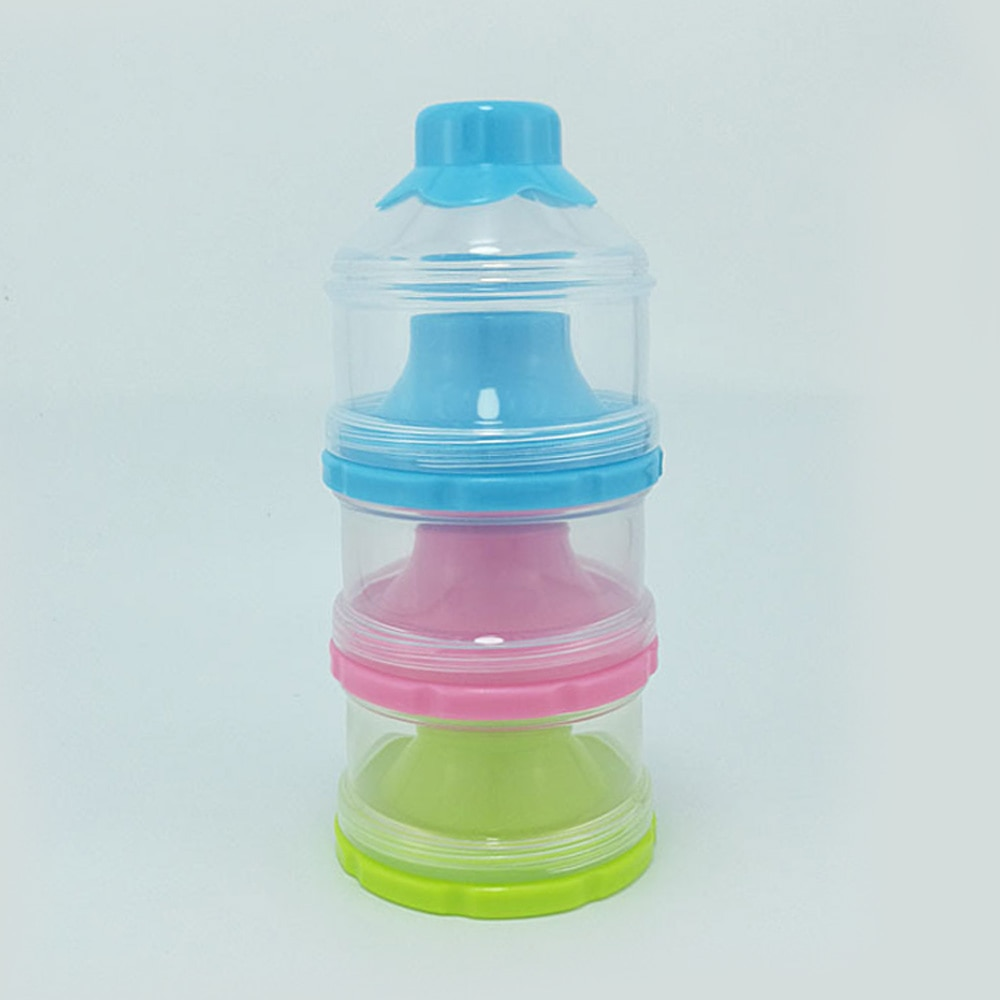 Baby Accessories Milk Storage Box Lunch Toddler 3 Layer Jar Powder Food Portable Case Dried Formula Milk Container Infant Bottle