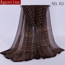 Chiffon scarf Print Soft designer brand ladies scarves shawl wrap luxury long  thick high quality women fashion Agustina 2018