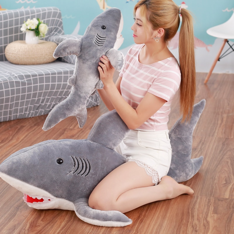 Plush Sharks Toys Stuffed Animals Simulation Big Sharks Doll Pillows Cushion Toys for Children Birthday Gifts