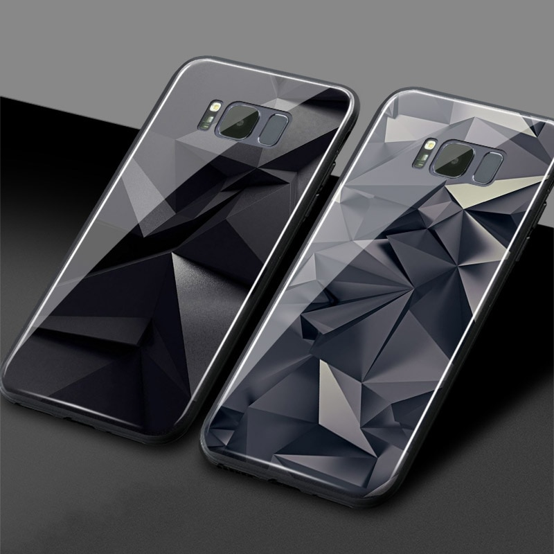 Funda de teléfono de silicona blanda de cristal de grafito abstracto de lujo funda para Samsung Galaxy S7 Edge S8 S9 S10 e Plus Note8 9 10 PLUS