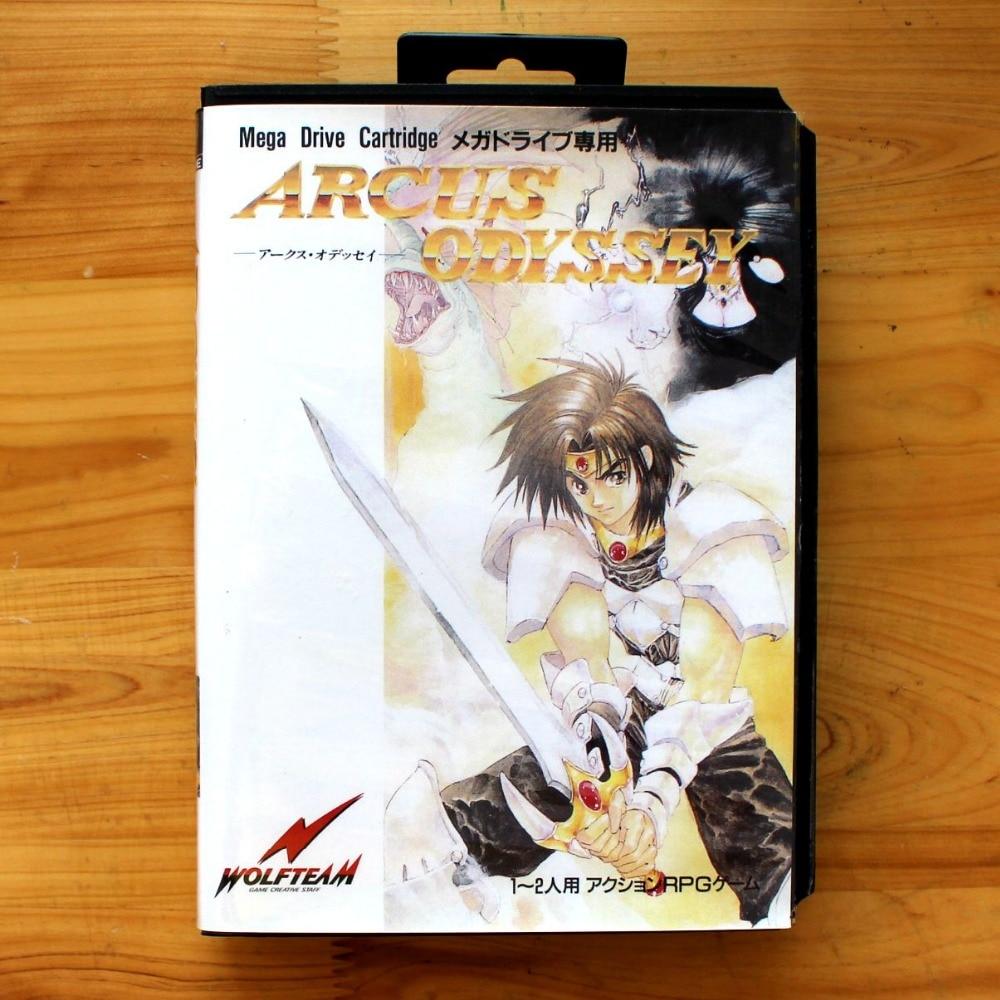 Arcus Odyssey 16 Bit SEGA MD Game Card With Retail Box For Sega Mega Drive For Genesis