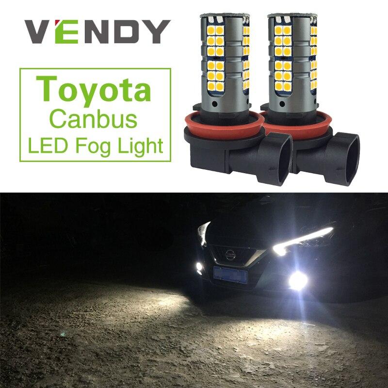2x Canbus H8 H11 H10 9145 9006 HB4 LED Fog Lights Bulbs For Toyota Corolla Avensis Yaris Rav4 Auris Hilux Sienna Celica Prius C