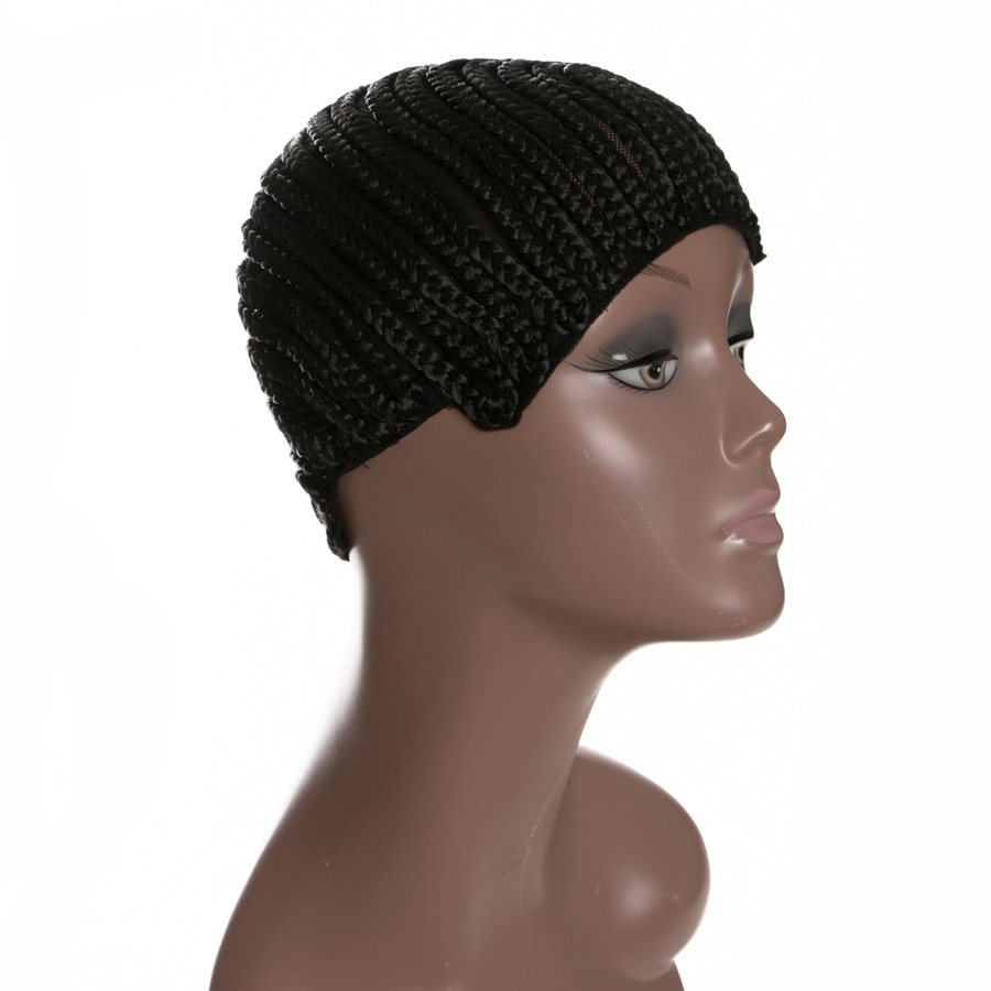 Cornrow Wig Caps For Making Wigs With Adjustable Strap Braided Products 1 piece synthetic Women Hairnets Easycap