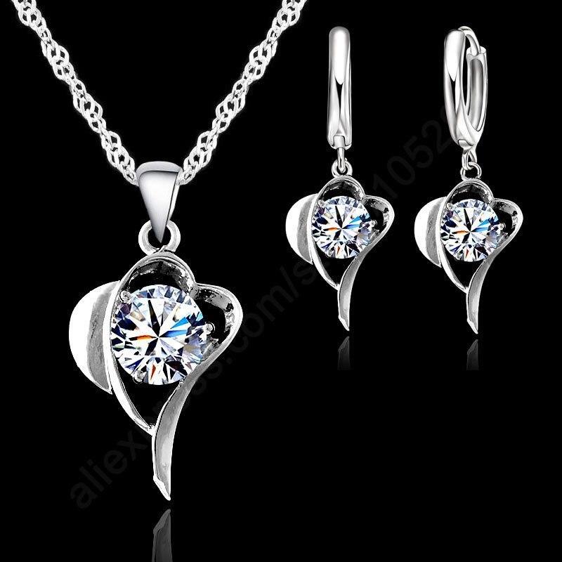 Романтическая-мода-czjewelry-наборы-чистого-925-пробы-серебра-кубический-циркон-в-форме-сердца-кулон-ожерелье-набор-серег-колец