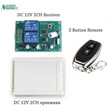 Angrysinge 433Mhz sans fil RF commutateur DC12V relais récepteur sans fil télécommandes pour moteur à courant continu avant et contrôleur inverse