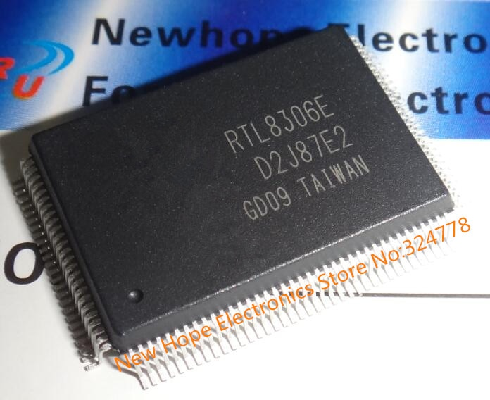 RTL8306E RTL8306 QFP128, interruptor de Ethernet, chip