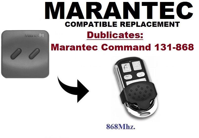 Marantec Komutu D302 D304 D313 D321 D323 868 131 868Mhz Garaj kapı uzaktan kumandası Değiştirme/Teksir