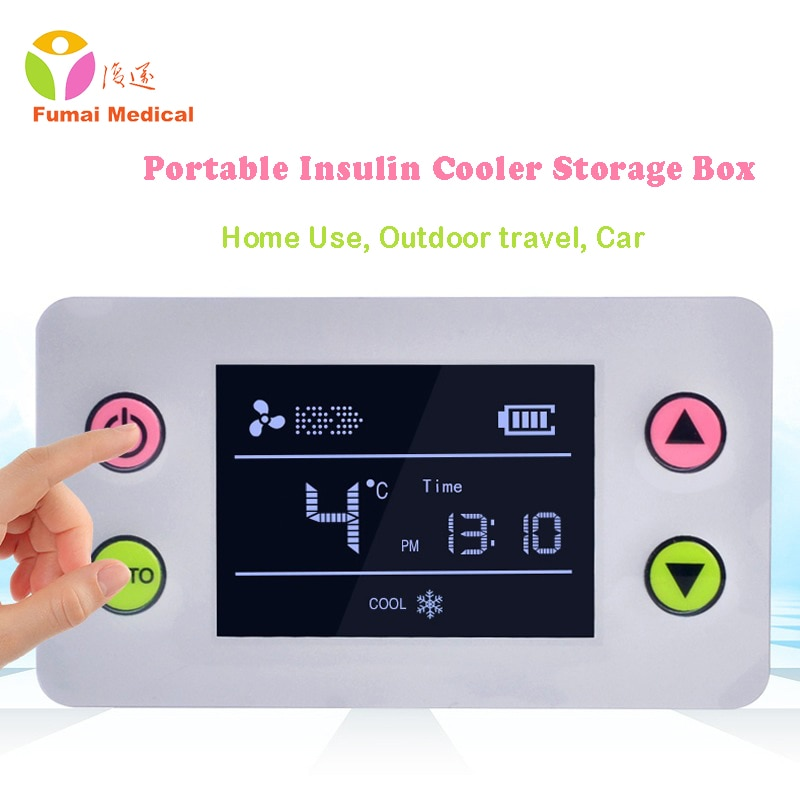Portable Insulin Storage Box Pill Case refrigerator Interferon Vaccine Rechargeable Cold Outdoor Travel Mini Fridge Drug Reefer