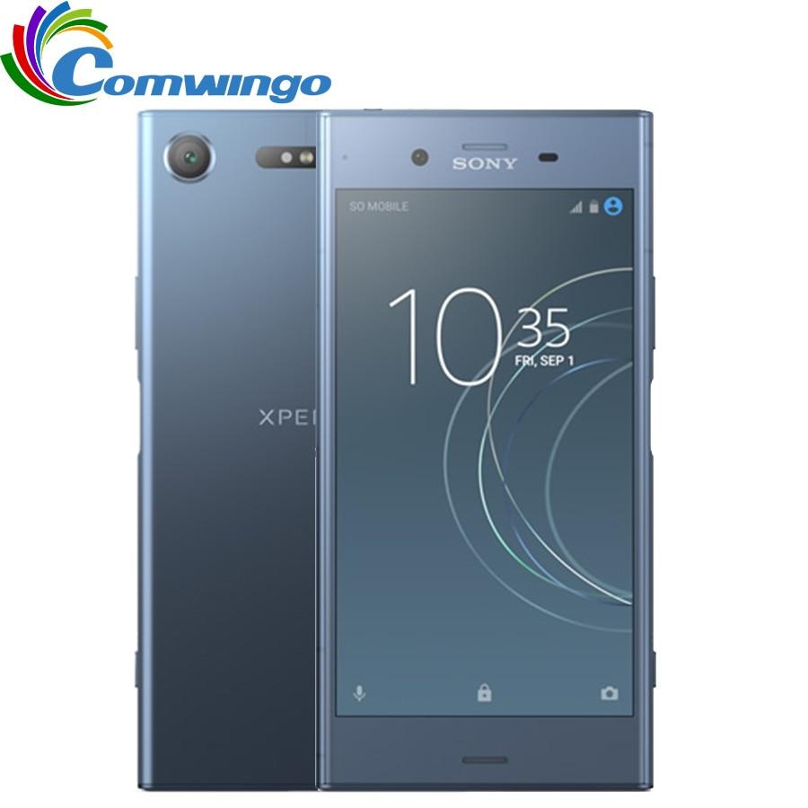 Оригинальный телефон Sony Xperia XZ1 G8342 64 Гб ROM 4 Гб RAM 19MP Octa Core NFC 2700 мАч Dual Sim Android 7,1 Quick Charge 3,0