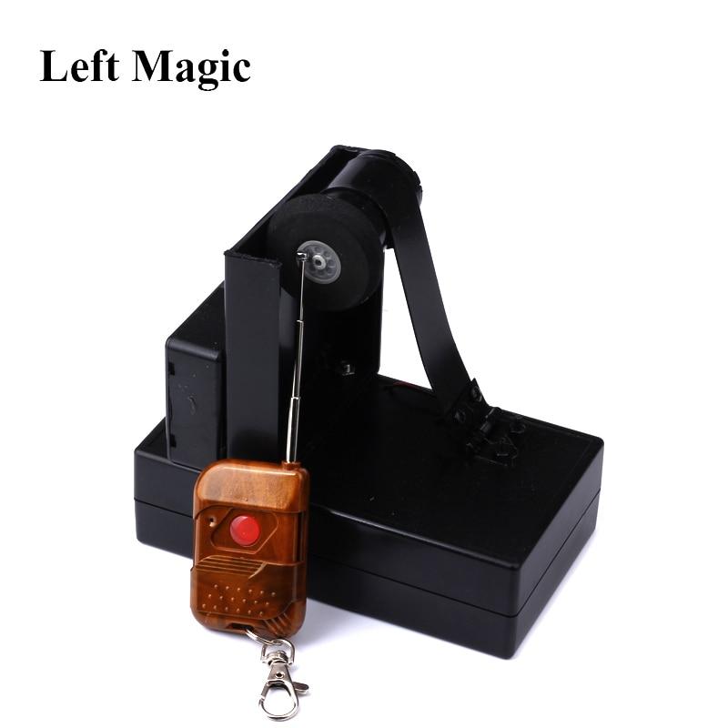 Tarjeta de Control remoto, fuente, trucos de magia, dispositivo de espray, accesorios mágicos para escenario, accesorios de magia, metal, truco