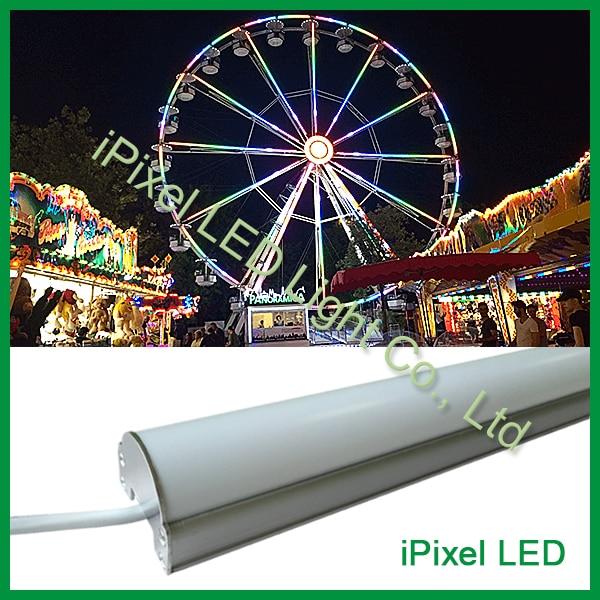 48pcs SMD 3535 LED bar, 16Pixels DMX512 Aluminum case, Milky white cover, DC12V, 12W/M