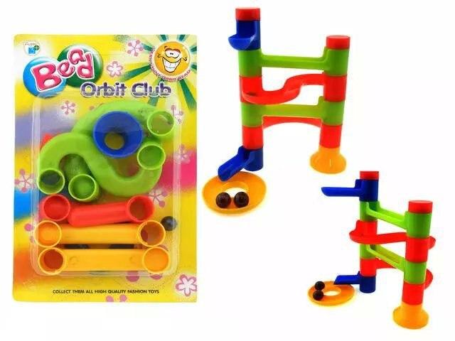 1 Pza cuenta juguetes para niños DIY construcción educación en bloques Orbit Ball Track correr juego de carreras torre de construcción juguetes al azar