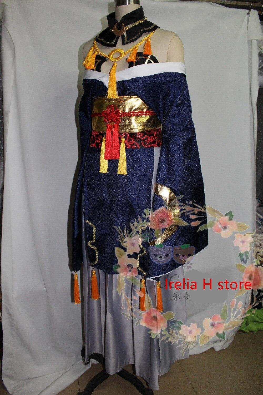 Touken Ranbu Online Mikazuki Munechika cosplay fêmea traje cosplay vestido para mulheres kimono custume feito personalizado