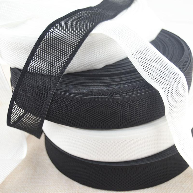 Grande 4 cm malha webbing fraco estiramento roupa interior elástico banda plana de borracha fina respirável pele macia diy acessórios de roupas