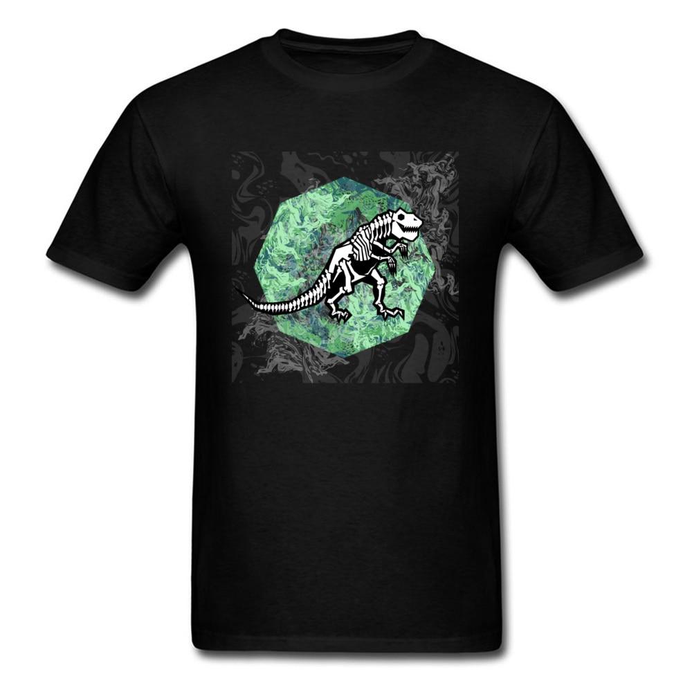 T Rex fósiles edades de hielo de dinosaurio de la camiseta para los hombres con estilo de verano de 2018 esqueleto Tops algodón T camisa dibujos animados Retro Rock camiseta