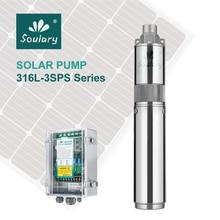 Pompe solaire Submersible SS316 3 pouces cc   Livraison gratuite, haute qualité, pour Irrigation (2,3m 3/140), modèle 3SPS2.3/
