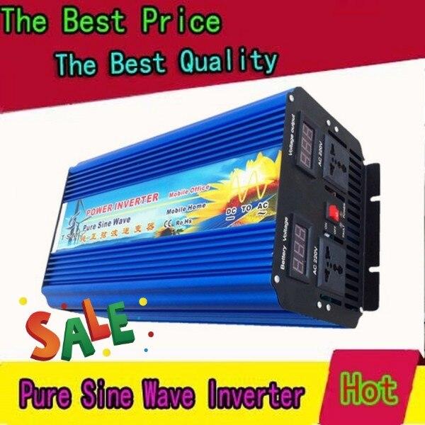 Transformador de tensão 5000 w dc12v para ac220v 60 hz inversor de onda senoidal pura potência máxima 10000 w