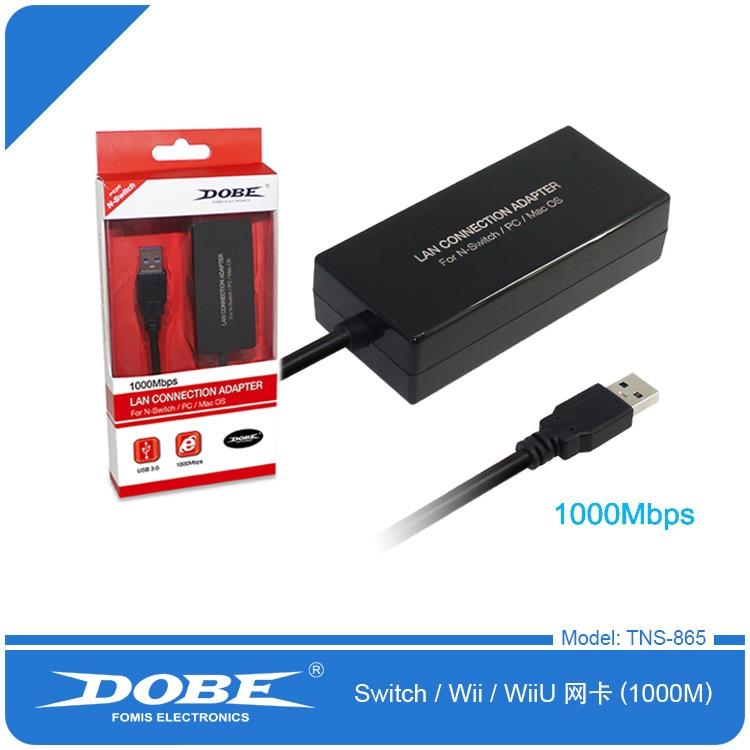 2017 Nintend Switch Network Adapter USB 3.0 to Ethernet RJ45 Lan Gigabit Adapter for 10/100/1000 Mbps Ethernet Supports