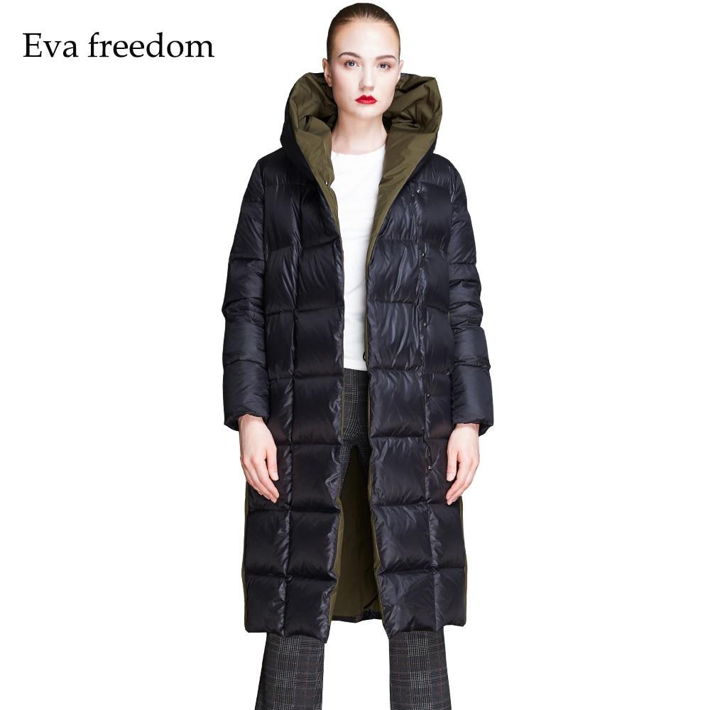 New stylish Brands women's down jacket Winter loose Coat Euramerican Fashion Thickening hooded Down Jackets women EF18010