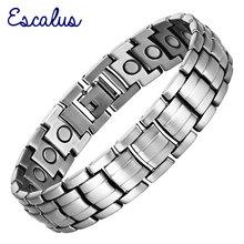 Escalus Neue Gesunde Magnetische Armband Für Männer Magneten Schmuck Antike Silber Zinn Farbe Armreif Charme Armband Armband