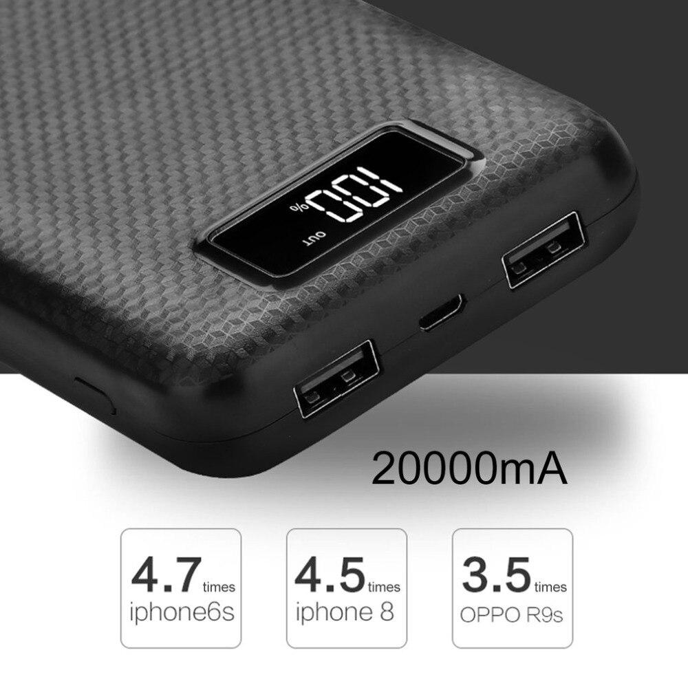 Banco de energía pcb, cargador portátil de batería con pantalla LCD, salida USB Dual, caja de carga, kit de módulo DIY de 8 piezas, batería 18650