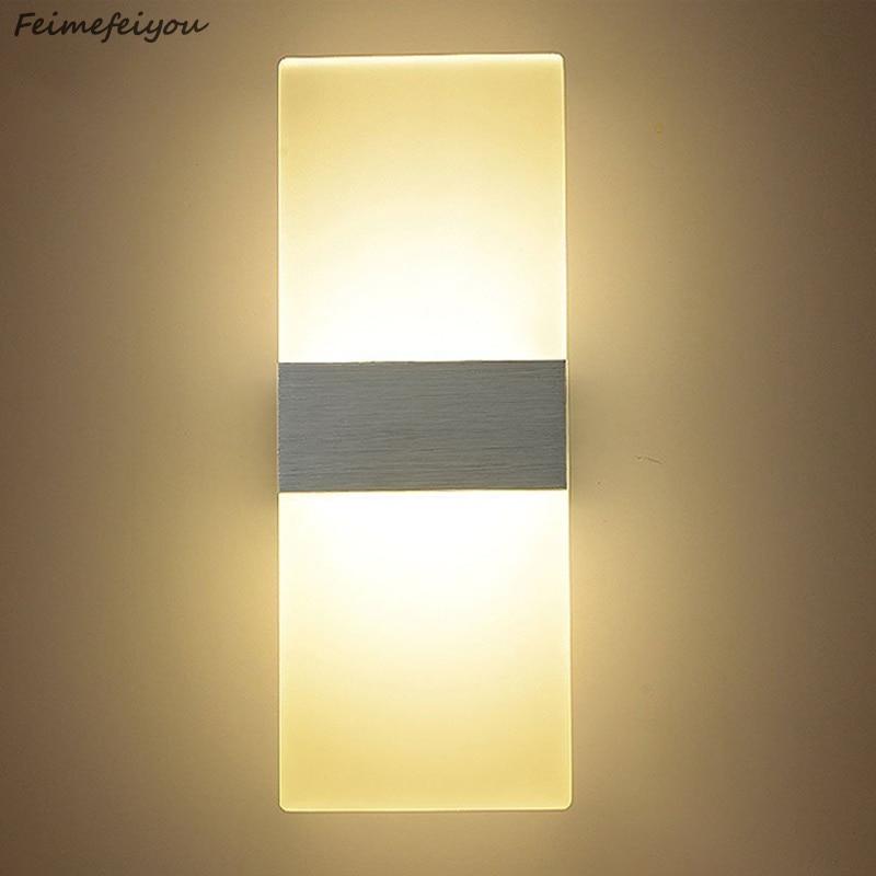 Feimefeiyou luminaria led lighting 6w 22/29cm length Led Acrylic Wall Lamp AC85-265V Bedding Room Living Room Indoor wall lamp